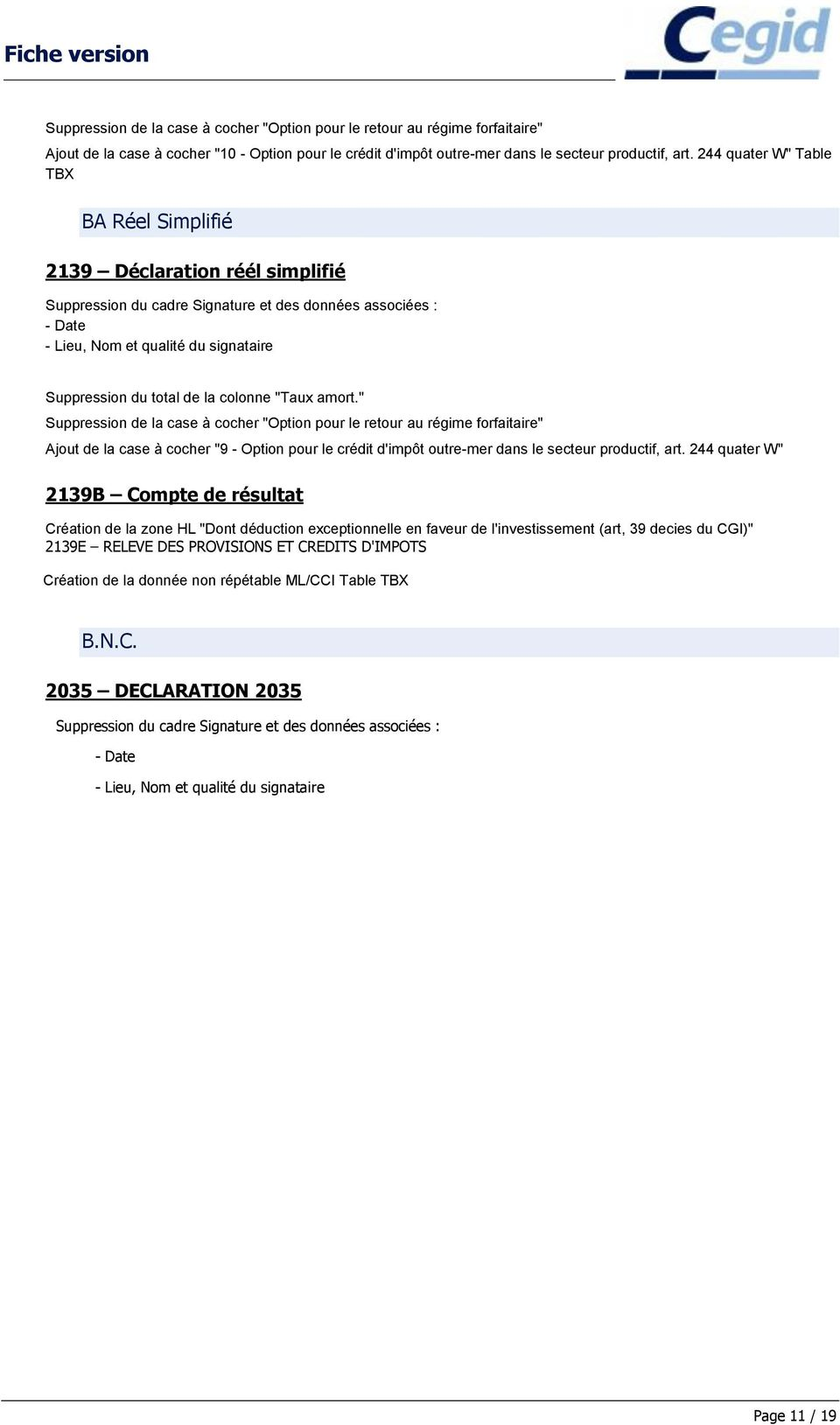 Fiche Version Yourcegid Fiscalite Yc V 03 Pdf