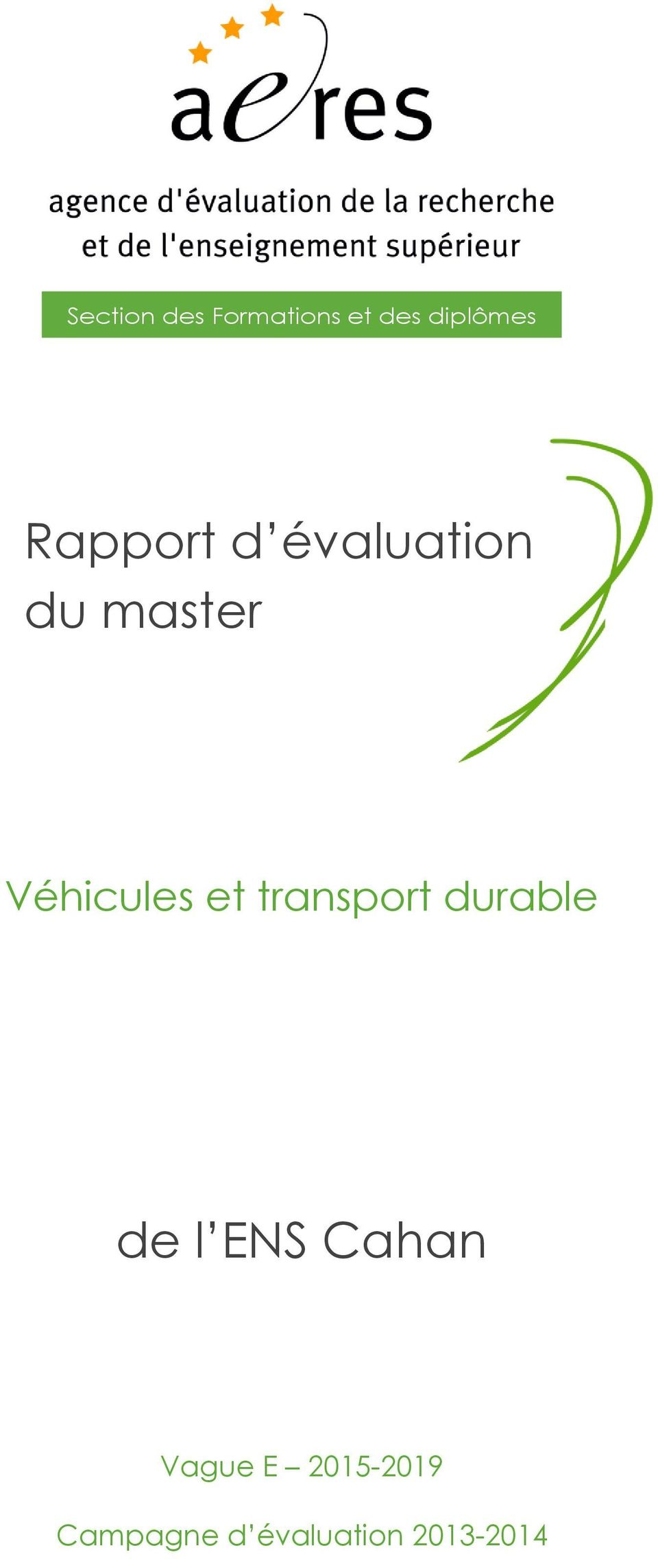 et transport durable de l ENS Cahan Vague
