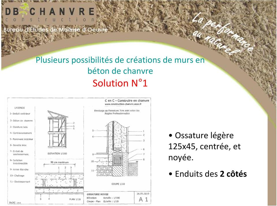 chanvre Solution N 1 Ossature