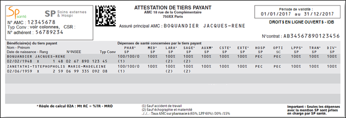 AXA PAYANT ATTESTATION TÉLÉCHARGER TIERS