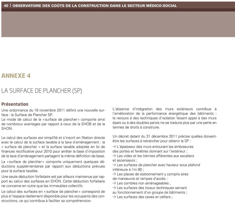 Annexe 1 La Surface Utile Su Definition Pdf