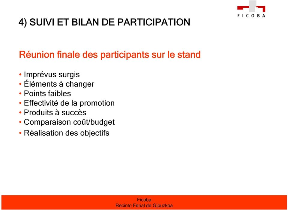 changer Points faibles Effectivité de la promotion
