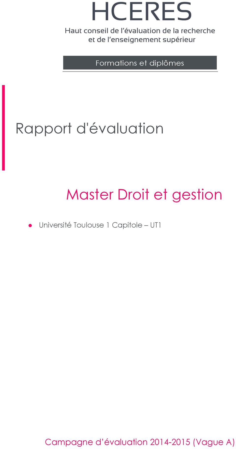 gestion Université Toulouse 1