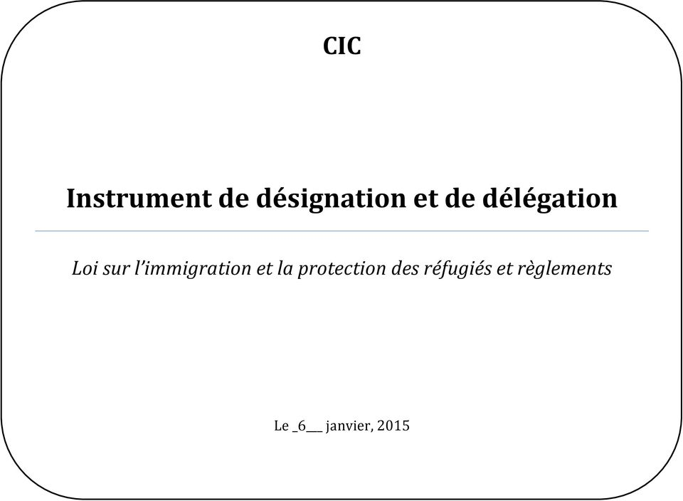 immigration et la protection