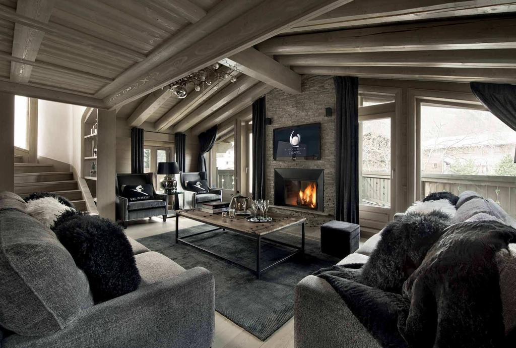 070f23a4a759cf Nestled in the French Alps, the twin chalets Black   White Pearl, were  conceived