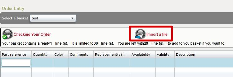 3 - Choose Import a file