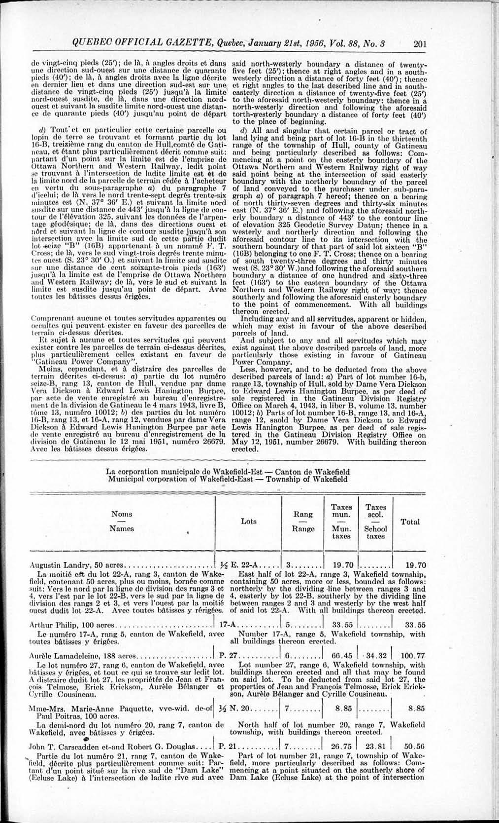 Gazette Officielle De Qubec Quebec Official Pdf Dictionary Of Electronic And Engineering Terms 39b39 January 21st 1956 Vol 88 No