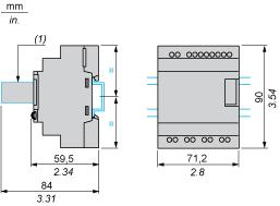 Dimensions Drawings Compact and