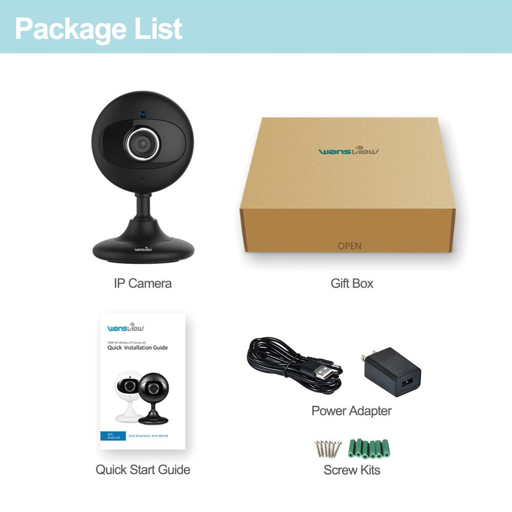 Wansview HD Wireless IP CAM K2(720P)/K3(1080P) Guide d
