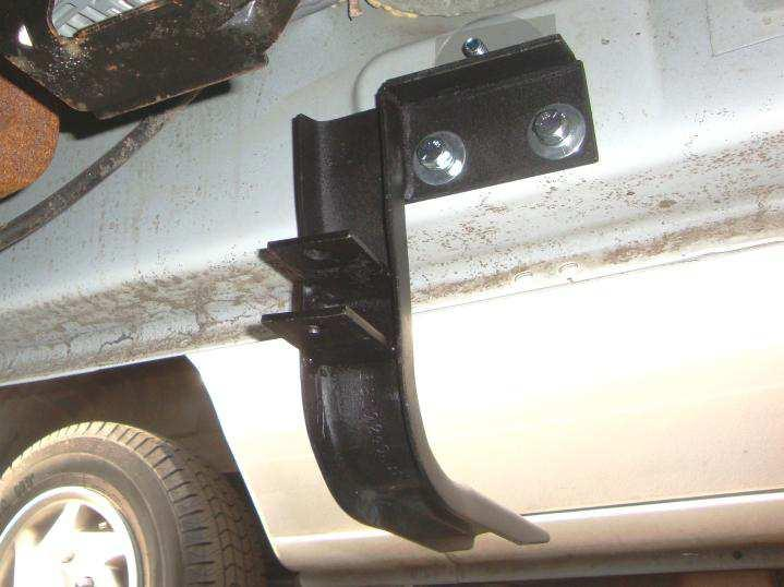 Front Bracket. 5. Begin the installation on the driver side of the vehicle. 6.
